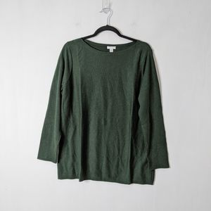 J. Jill Hunter Green Pullover Tunic Sweater